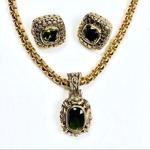 Jewelry - Peridot & Gold Necklace Set